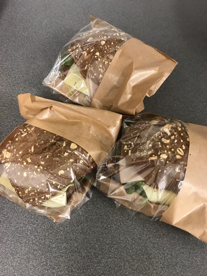 Fresh sandwiches (ham/cheese) from Barista Victoria (18/07)