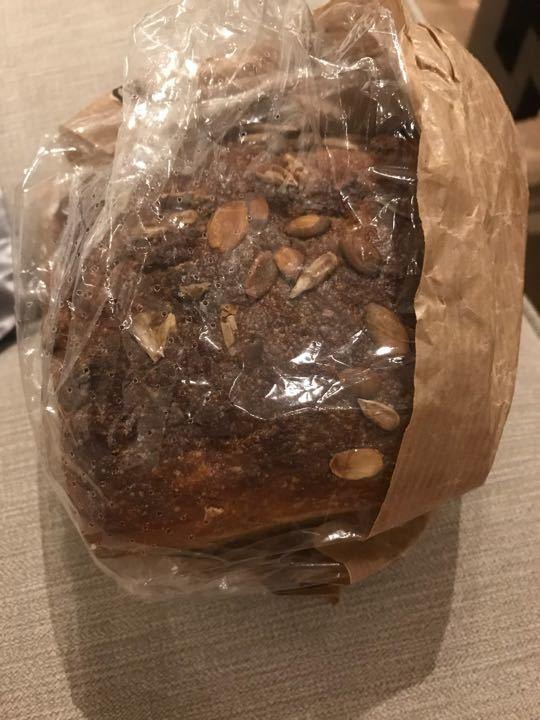 Organic rye sourdough w/pumpkin seeds