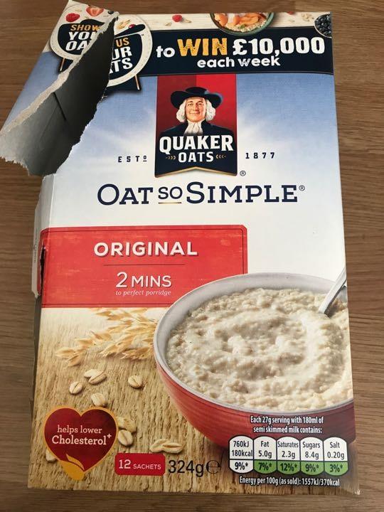 Porridge original front Quaker Oats