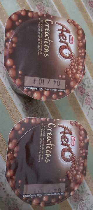 Aero creations: delicious chocolate mousse.