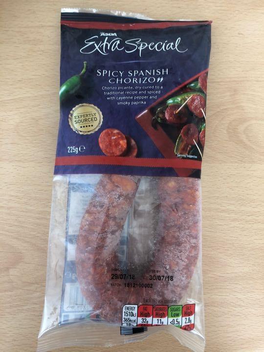 Spicy Spanish Chorizo, ASDA Extra Special
