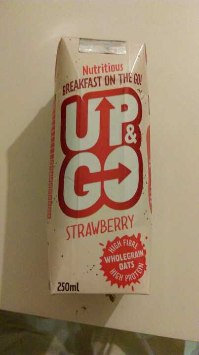 Up & Go Strawberry flavor breakfast drink