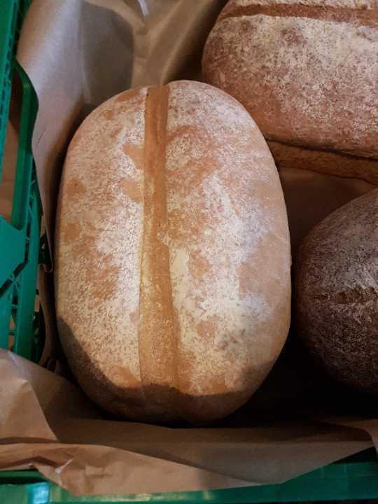 Large white farmhouse loaf