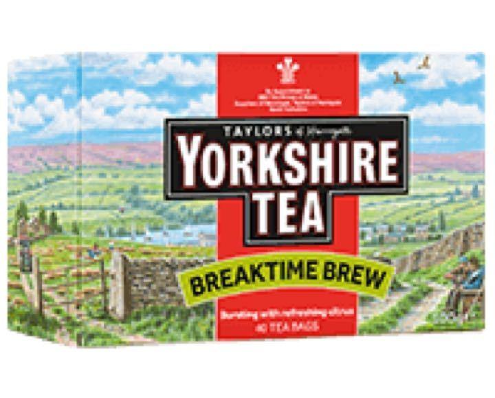 Box of Yorkshire tea, break time brew