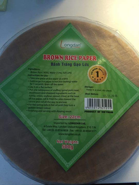 Brown rice paper
