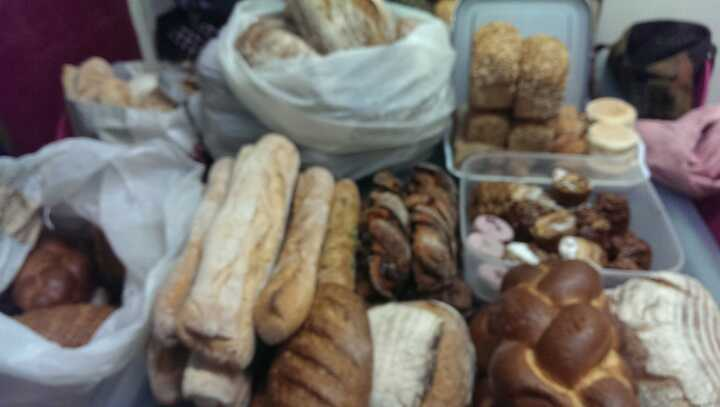 Artisan Sourdough and cake, and varieties of bread