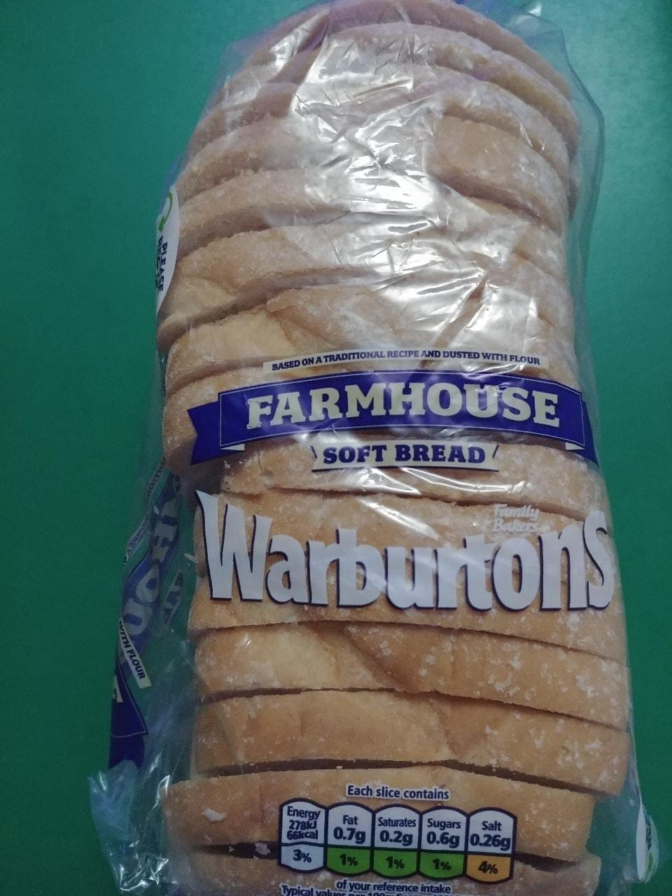 Warburtons farmhouse soft bread 400g