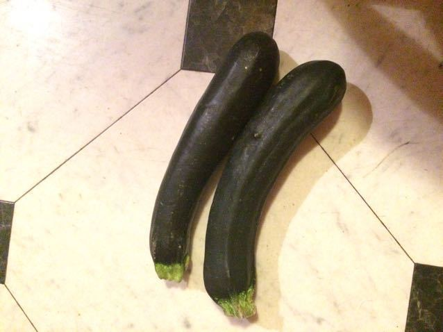 Couple courgettes