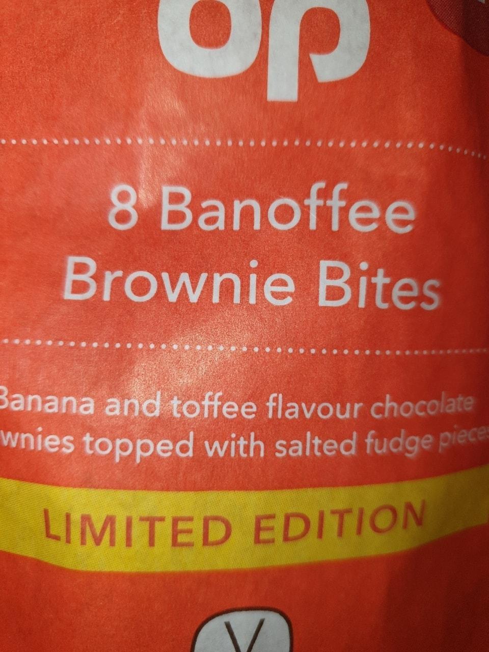 Banoffee brownie bites