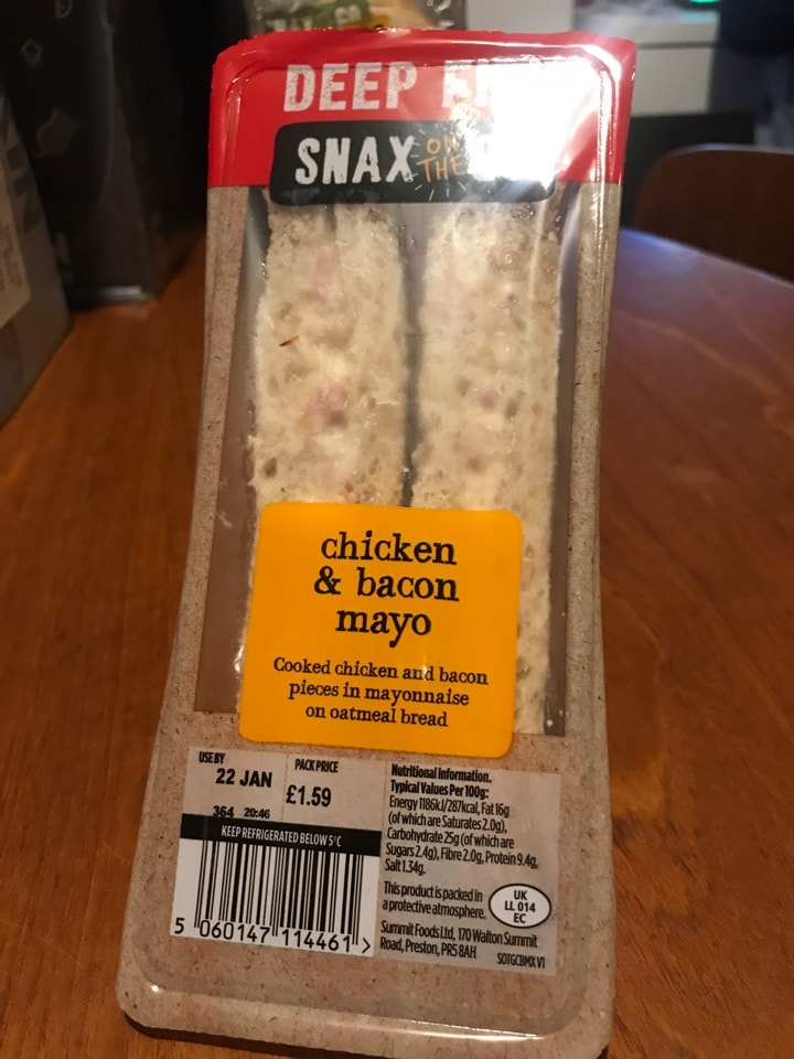 Chicken and bacon Mayo sandwich