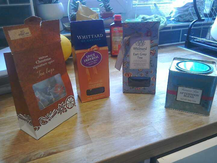 Selection of loose leaf tea and tea bags