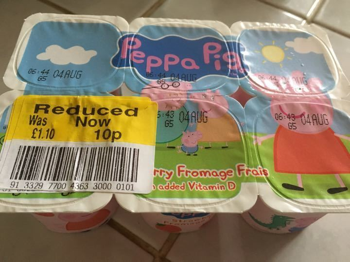 Peppa pig yogurt