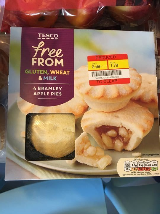 Tesco free from apple pies