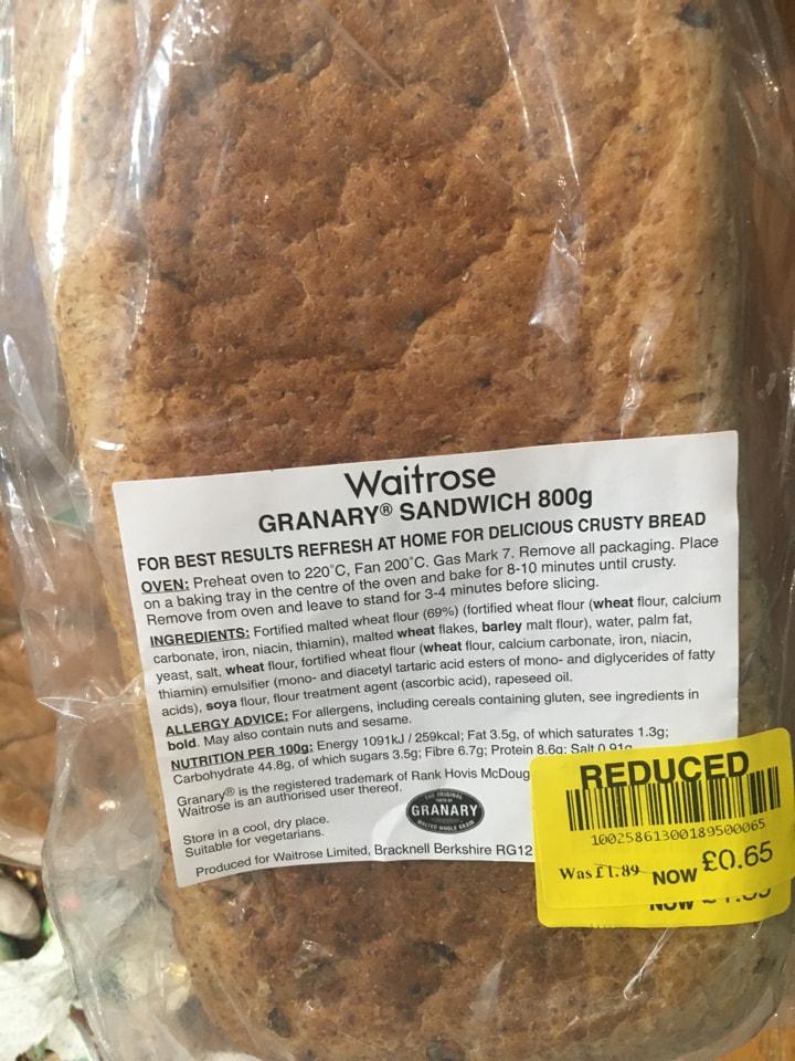 Granary sandwich
