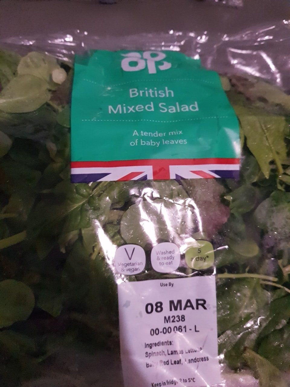 Mixed salad - must collect tonight before 11pm