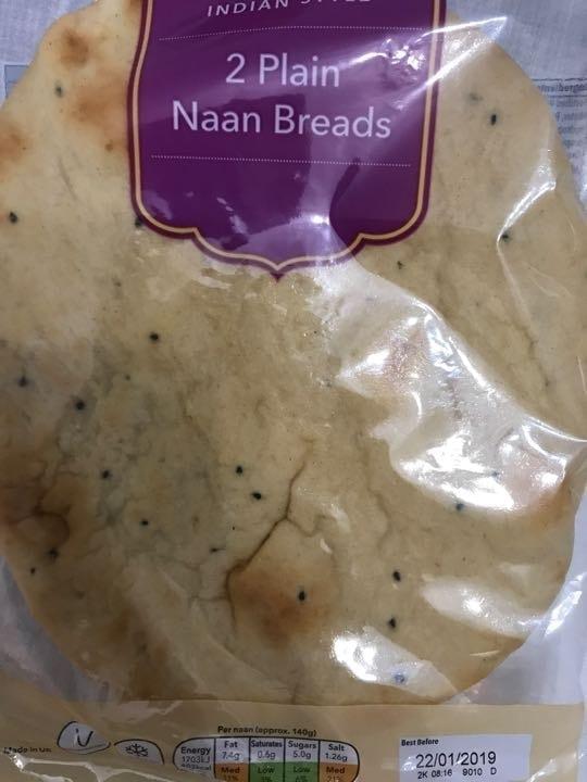 2 plain naans