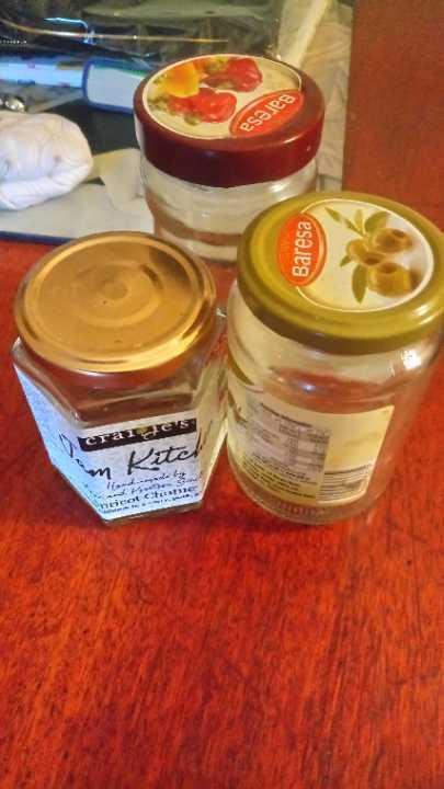 Jars for jam etc