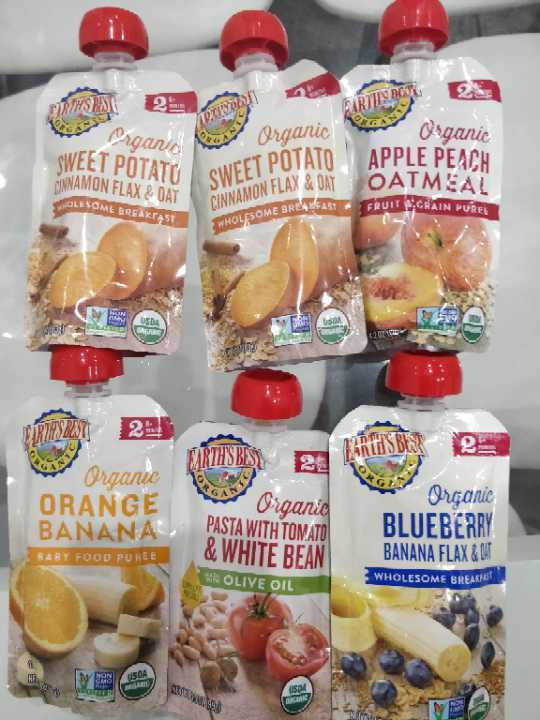 6x Baby food pouches