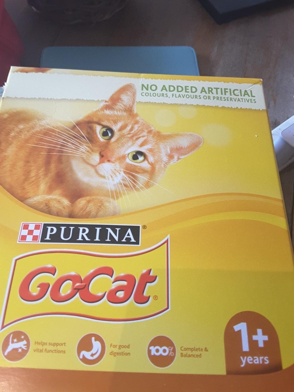 Opened box of Go Cat