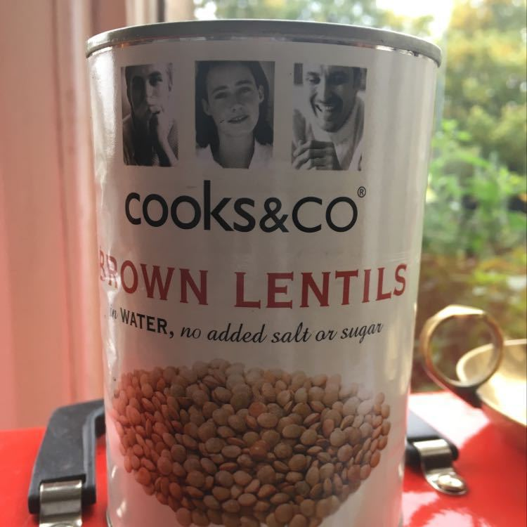 Tinned brown lentils!