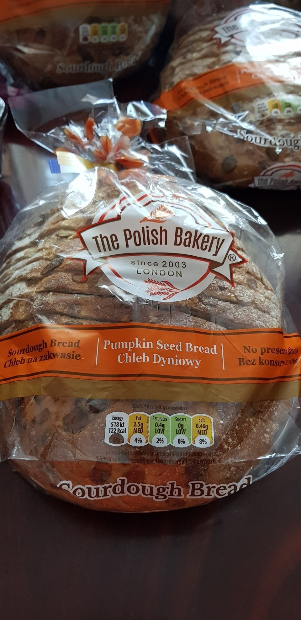 Sourdough pumpkin bread