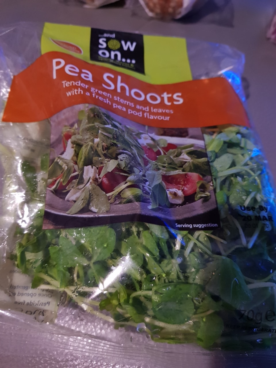 Pea shoots- must collect tonight before 11pm