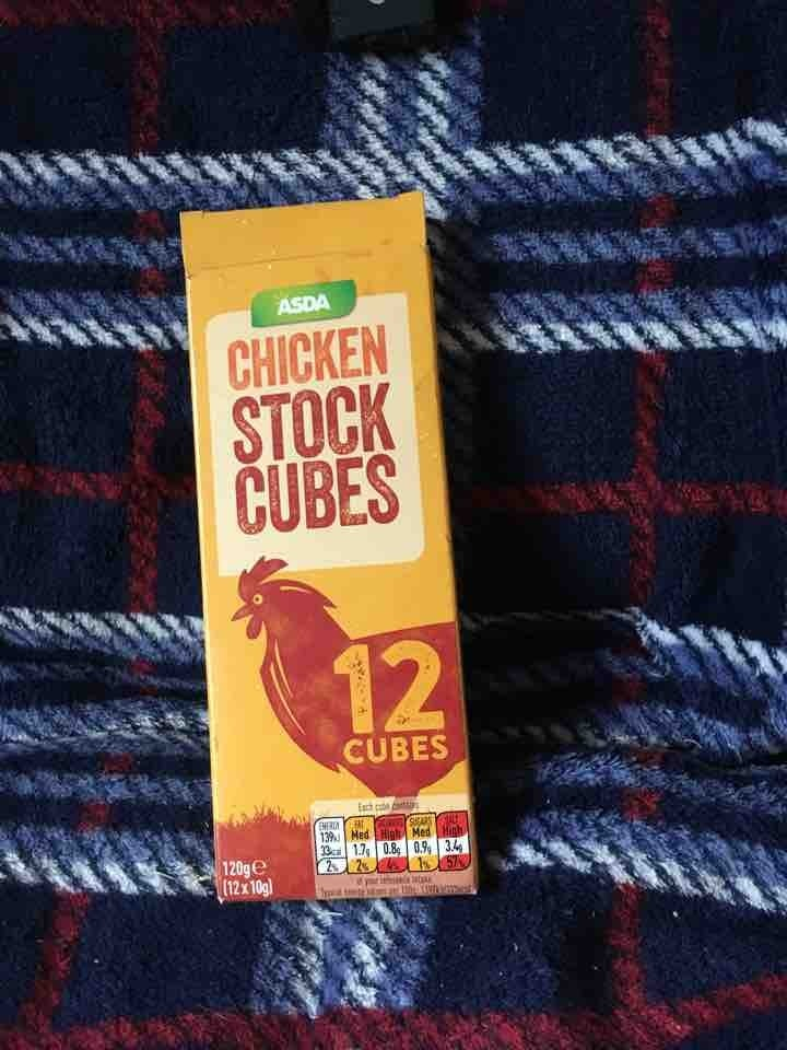 6 chicken stock cubes from Asda