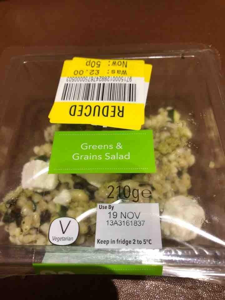 Green& grains salad