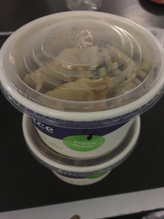 Veggie gyoza rice box (small)