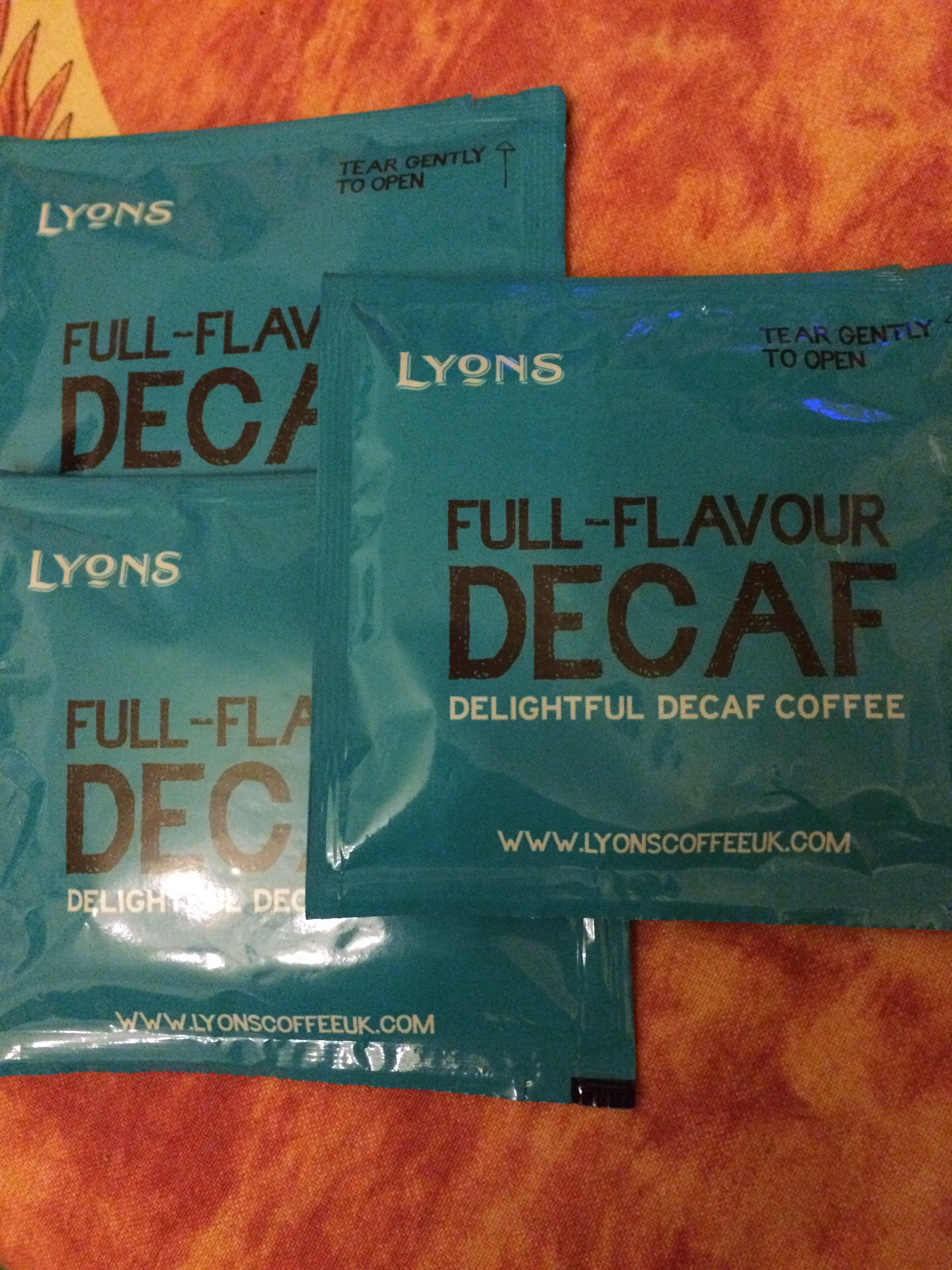 Decaf coffee bags (3)