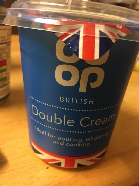 Double cream pick up by 10.30 please