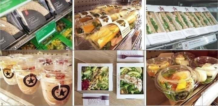 Pret A Manger sandwiches available at now until 7pm