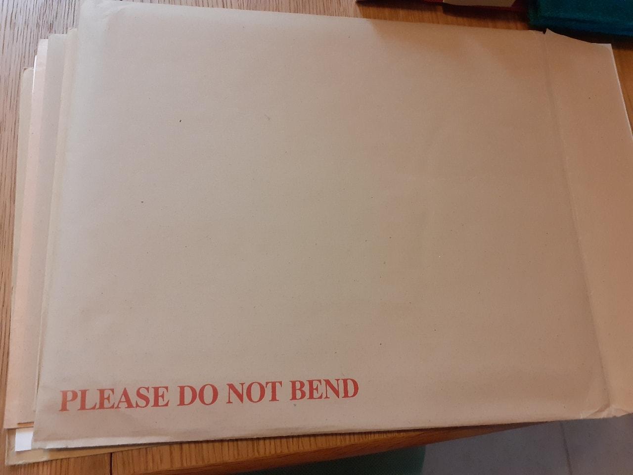 Sturdy envelopes e.g. for certificates