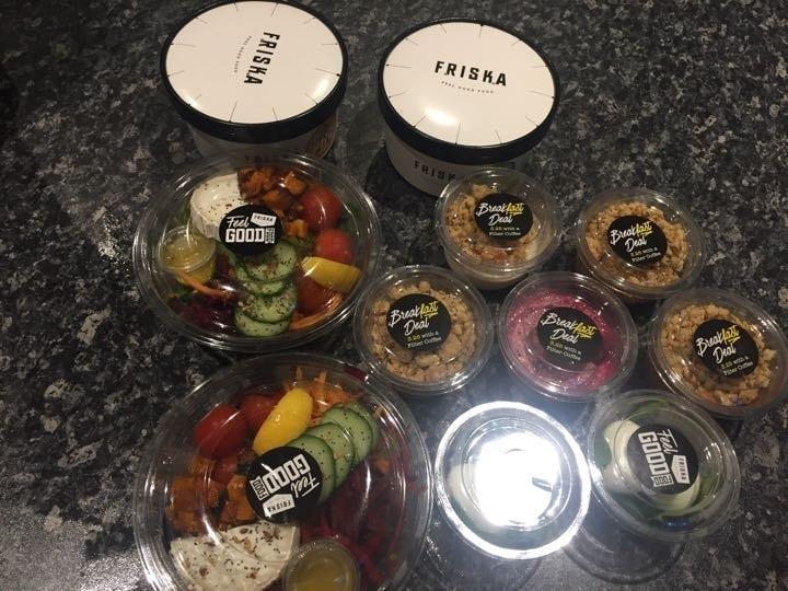 Surplus food freshly made from Friska