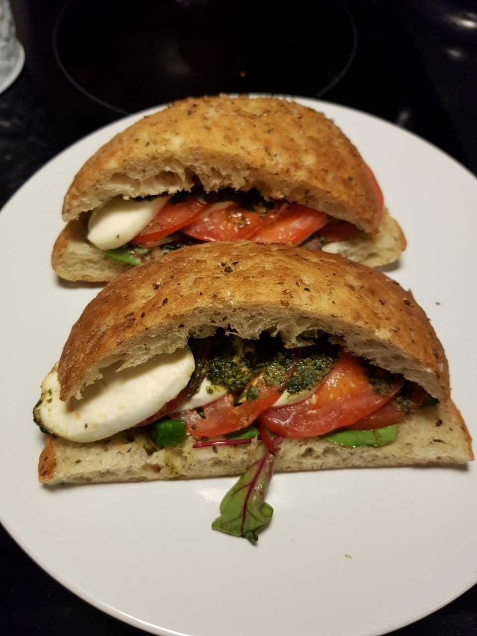 Vegetarian half-moon sandwiches (2)