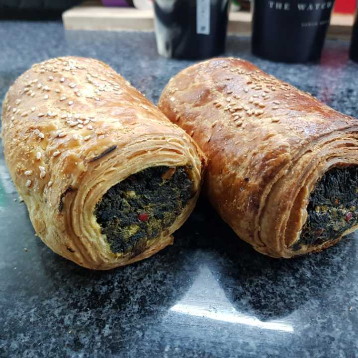 Spicy spinach roll - delicious