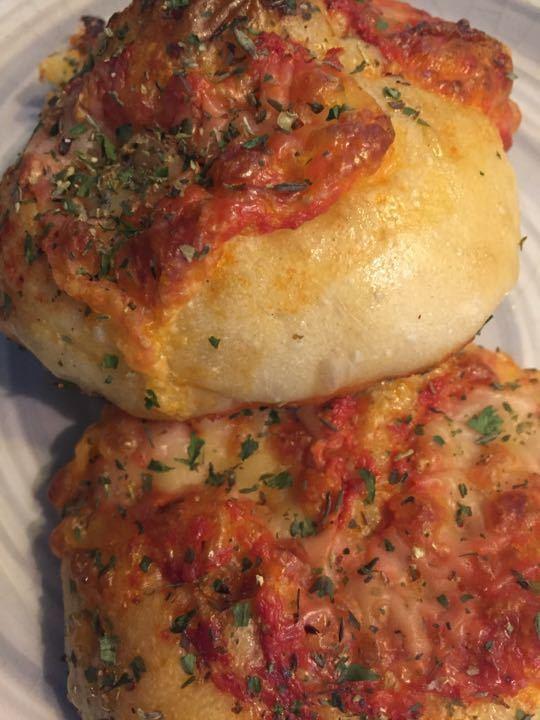 Cheese & tomato mini focaccias kindly donated by artisan bakery Signorelli