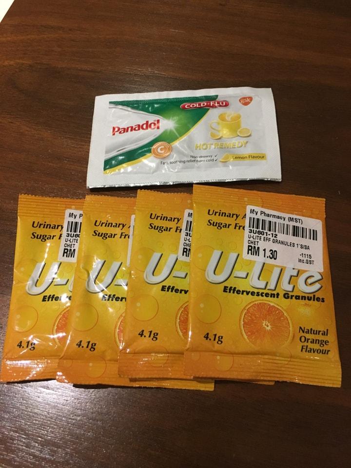 Panadol cold-flu hot remedy+ U-lite