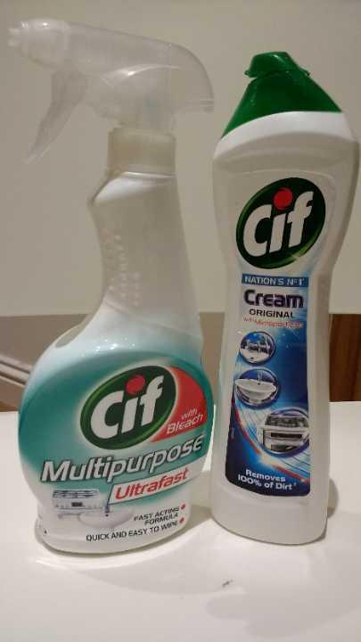 Cif multipurpose spray (450 ml)  and cream (500 ml)