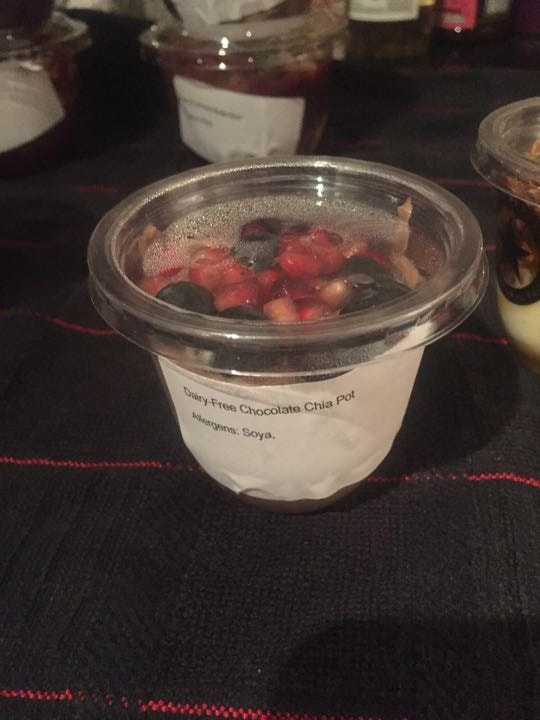 Pret Cold Food - 1 dairy-free chocolate chia pot