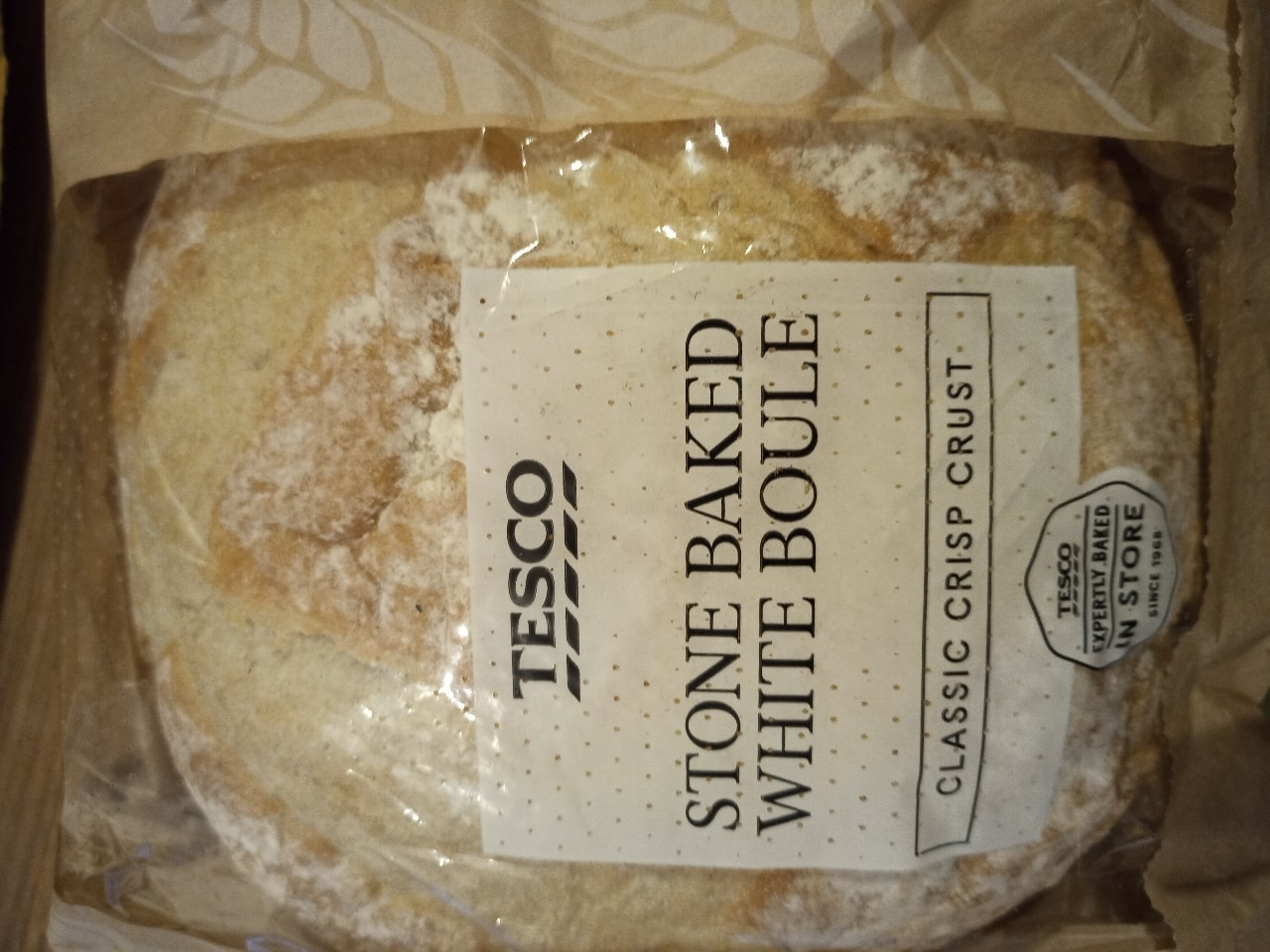 Stone baked white boule