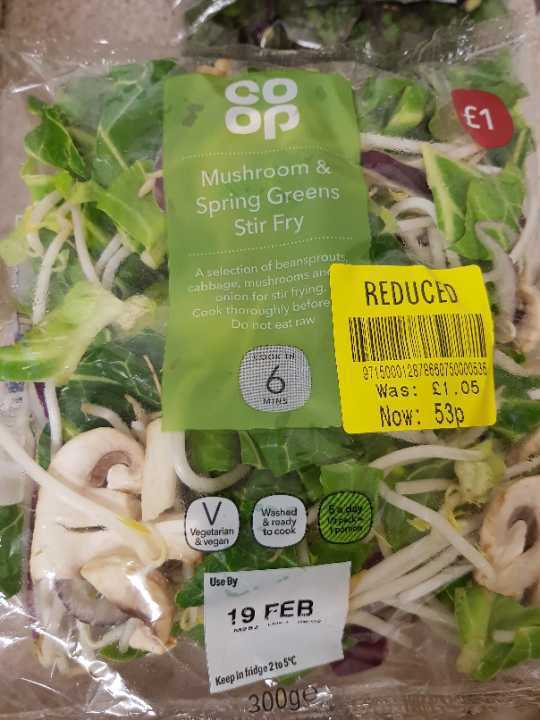 Mushroom & Spring Green Stir Fry x2