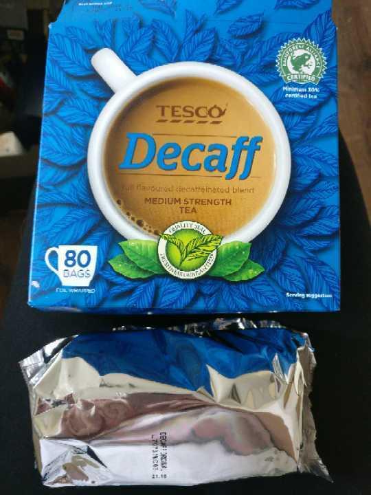 40 Tesco Decaf tea bags - unopened, BB June 2018