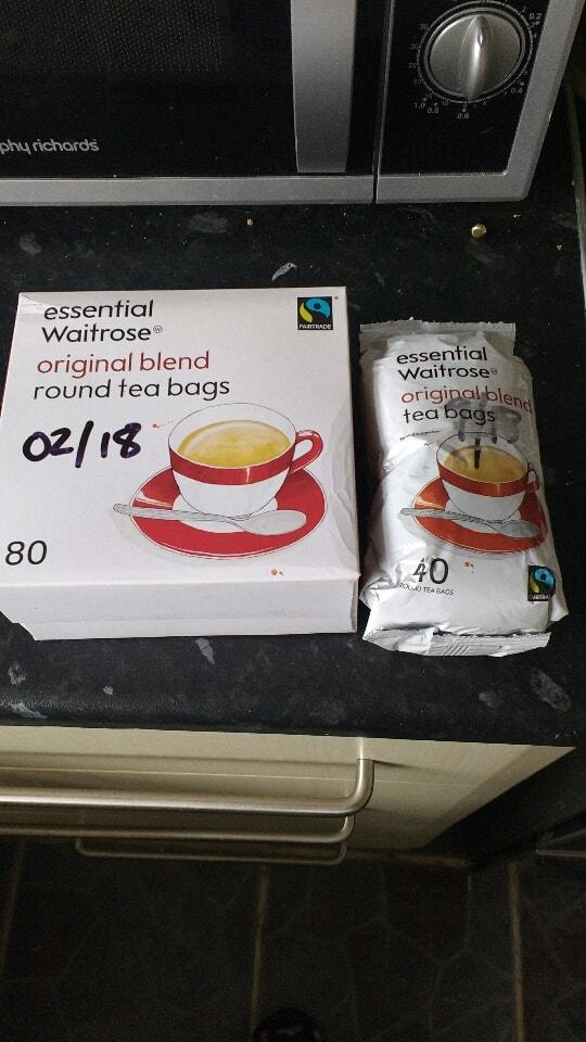 Waitrose original blend tea bags