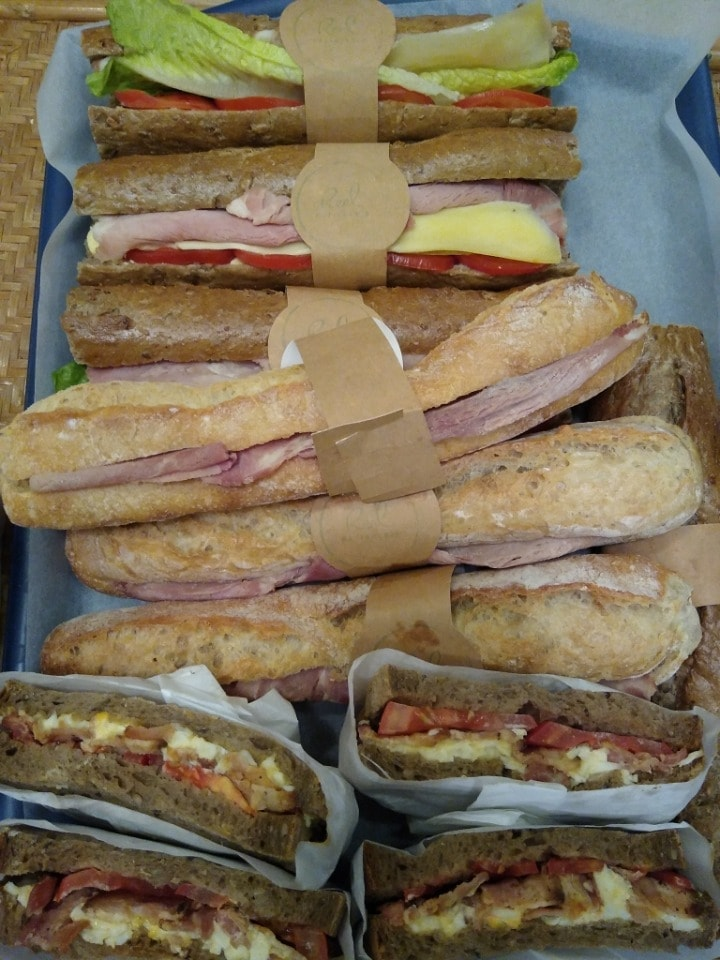 Tuna real patisserie sandwiches (ignore picture)