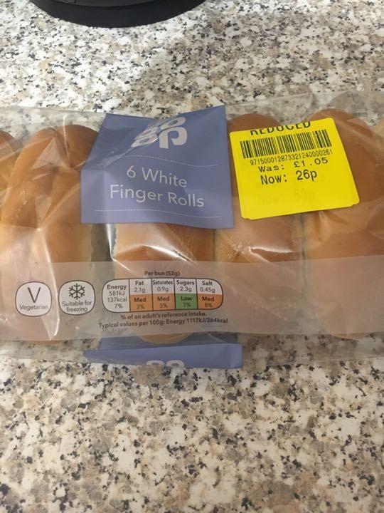 6 finger rolls