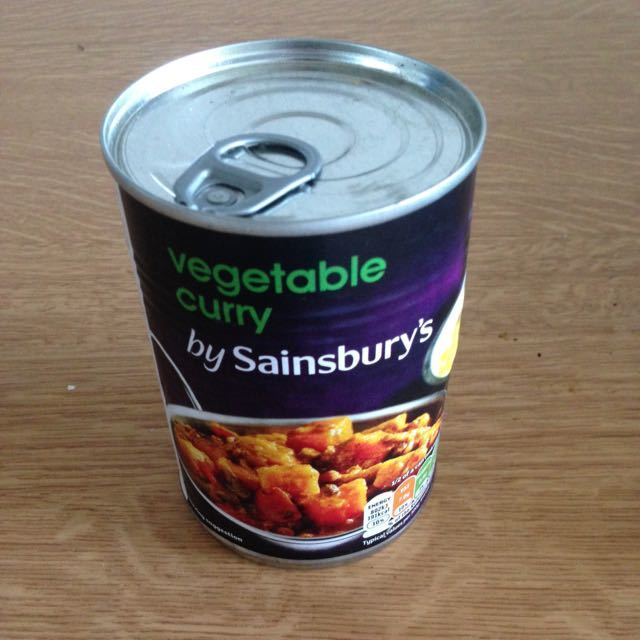 Tinned veggie curry