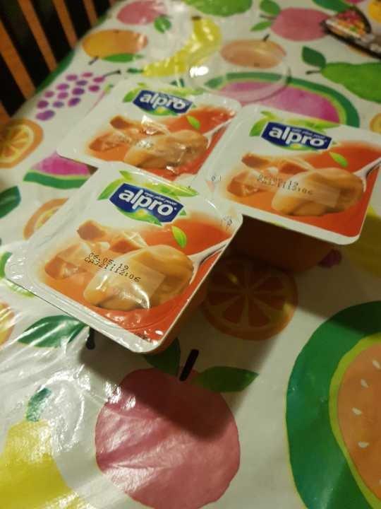 Alpro soya salted caramel desserts