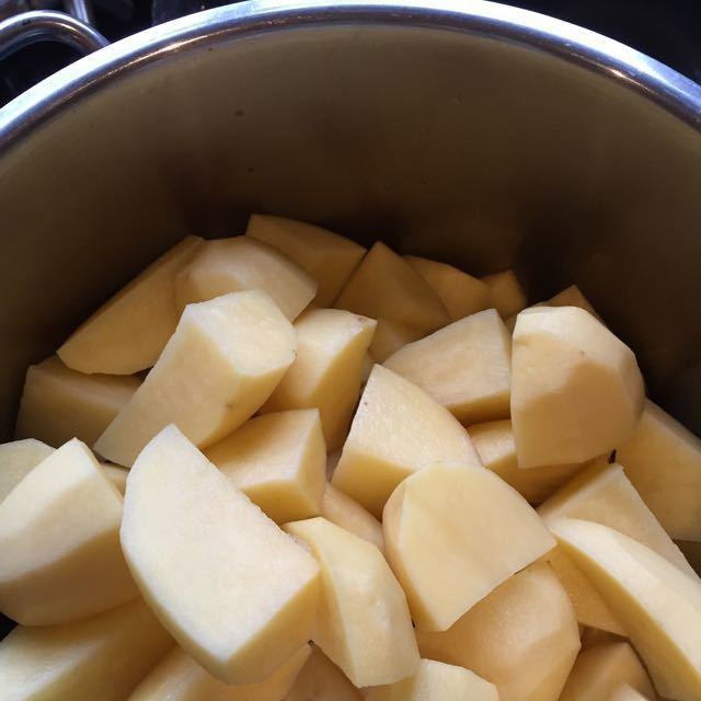 Approx kilo Potatoes chopped and part boiled