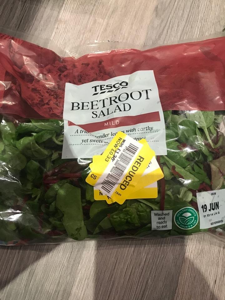 Beetroot salad bag